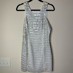 Parker beaded white dress size small